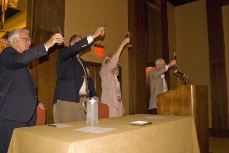 Toasting the audience