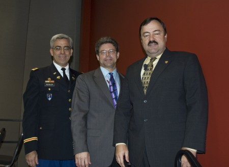 From left to right, Dr. Stephen J. Ressler P.E., Dr. Jeffrey S. Russell, and Blaine Leonard P.E.